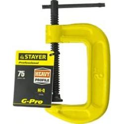Струбцина STAYER G-Pro, PROFI, тип G, 75 мм / 32144-075