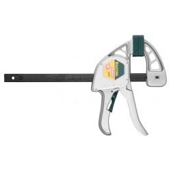 """Струбцина KRAFTOOL """"EcoKraft"""" ручная пистолетная, металлический корпус и рейка (0-650 мм) Германия / 32228-45"""