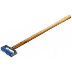 Валик игольчатый STAYER для гипсокартона в сборе, металлические иглы, ручка 500 мм, 32х150 мм /  0395-15