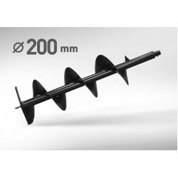 Шнек для грунта диаметр - 200 мм,  длина 1 метр CARVER, Кратон