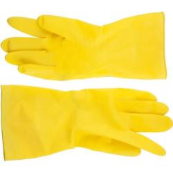Перчатки DEXX латексные рифленые, х/б напыление, размер M / 11201-M