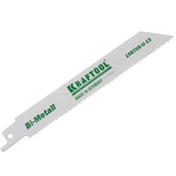 Полотно KRAFTOOL INDUSTRIE QUALITAT для эл/ножовки, Bi-Metall, по металлу, шаг 1.4 мм, 130 мм / 159755-13