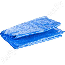 Тент-полотно водонепроницаемый STAYER, серия MASTER, тканый полимер, 65 г/м3, люверсы, 6х10 м / 12560-06-10