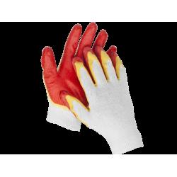 Перчатки рабочие трикотажные STAYER MAXSafe, MASTER, двойная обливная ладонь из латекса, 13 класс, S-M / 11409-S