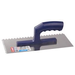 """Гладилка ЗУБР нержавеющая зубчатая,  """"Эксперт"""", 130х280 мм, зуб 4х4 мм / 0804-04"""