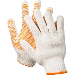 Перчатки трикотажные STAYER с защитой от скольжения, серия MASTER, 7 класс, х/б, S-M, индивидуальная упаковка / 11404-S