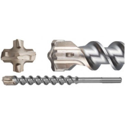 Бур 22х520 мм ЗУБР SDS-Max по бетону, 4 резца, спираль-шнек / 29350-520-22_z01