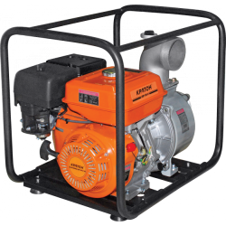 Мотопомпа Кратон GWP-100-02H (5,0 кВт + диаметр 100 мм + производительность 96 000 л/ч) / 5 05 01 015