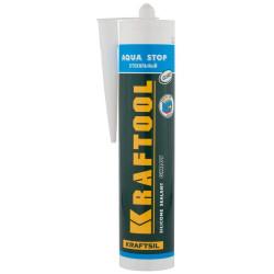 """Герметик KRAFTOOL KRAFTFLEX GX107 """"AQUA STOP"""" силиконовый стекольный, прозрачный, 300 мл (Германия) / 41256-2"""