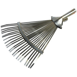 Грабли веерные GRINDA регулируемые, 22 плоских зуба, 320-420 мм / 8-421875_z01