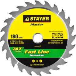 Диск пильный по дереву STAYER Fast Line, MASTER, 184х20 мм, 20Т / 3680-184-20-20