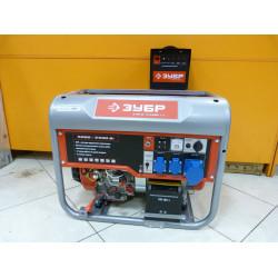 Бензогенератор ЗУБР ЗЭСБ-5500-ЭА с электростартером и автозапуском ( 6,5 кВт + двигатель Honda GX390 + 5 лет гарантии)