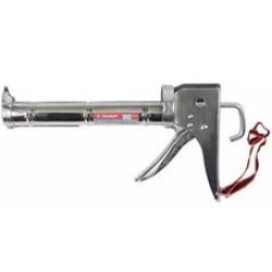"""Пистолет для герметиков полукорпусной ЗУБР, """"Эксперт"""", 310 мл, хром, зубчатый шток / 06625"""