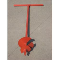 Бур садовый ручной, диаметр 300 мм, длина 1 метр 10 см / 39491-300