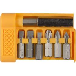 Набор бит STAYER, STANDART, Cr-V, 6 бит + магнитный адаптер 60 мм, 7 предметов, мини-бокс / 26082-H7