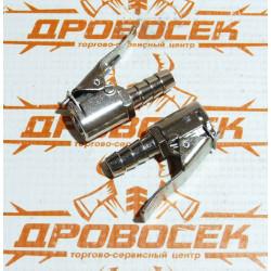 Муфта быстросъемная Stels для колесного ниппеля со штуцером под шланг (8 мм, 2 шт.) / 57063