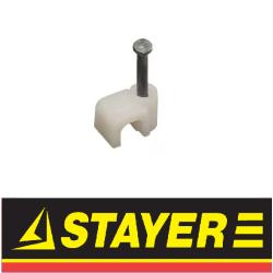 Скоба-держатель для плоского кабеля (Stayer)