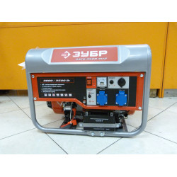 Бензогенератор ЗУБР ЗЭСБ-3500-ЭМ-2 с электростартером (3,5 кВт + Honda GX 200+ 5 лет гарантии)