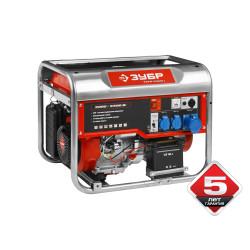 Электрогенератор ЗУБР ЗЭСБ-5500-Э ( 6,5 кВт + автозапуск + аккумулятор + двигатель HONDA 390+5 лет гарантии)