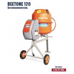 """Бетономешалка Кратон """"BeeTone"""" 120 (1000 Вт + объём 120 л. + чугунный венец + металлический шкив) / 4 02 07 020"""