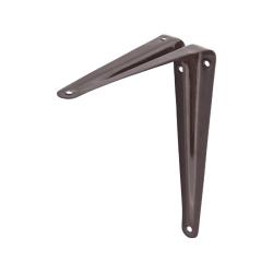 Уголок-кронштейн для полки STAYER, MASTER, 100х125х0.8 мм, коричневый / 37401-3