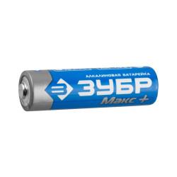 Батарейка ЗУБР TURBO MAX щелочная (алкалиновая), тип AA, 1.5 В, 4 шт. / 59206-4C