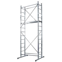 Вышка-тура алюминиевая SIBIN 2 х 14 ступеней, высота 5 метров / 38840-5