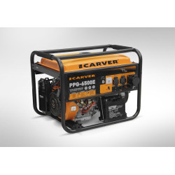 Генератор бензиновый Carver PPG-6500E (6,5 кВт + электропуск + аккумулятор)