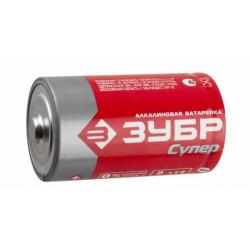 """Батарейка ЗУБР """"СУПЕР"""" щелочная (алкалиновая), тип C, 1.5 В, 2 шт. на карточке / 59215-2C"""