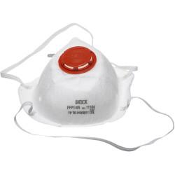 Полумаска фильтрующая DEXX противоаэрозольная коническая многослойная с клапаном, FFP1 / 11104