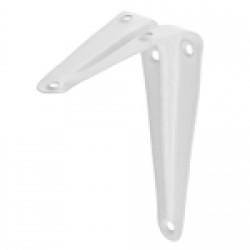 Уголок-кронштейн для полки STAYER, MASTER, 100х125х0.8 мм, белый / 37401-1