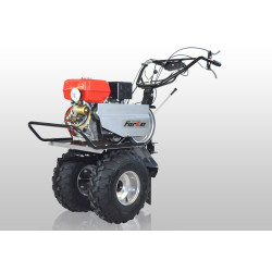 Мотоблок FORZA МБ FZ-02-9.0 FE (усиленный редуктор,рычаг блокировки сцепления,удлиненный рычаг переключения передач колесо 19*7*8+фрезы+фара) / FZ03.02.29F.000