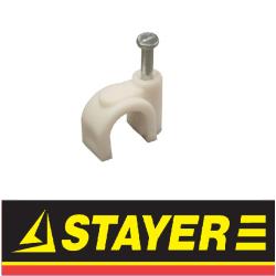 Скоба-держатель для круглого кабеля (Stayer)