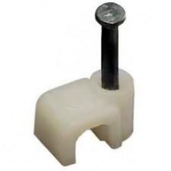 Скоба ЗУБР прямоугольная с гвоздем для крепления кабеля, 7 мм, 50 шт. / 45112-07