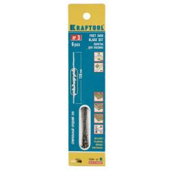 Полотна для лобзика KRAFTOOL (Германия) спиралевидный зуб, 130 мм, №1, 6 шт/упаковка / 15344-01