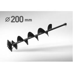 Шнек для льда 200 мм, 1 метр CARVER