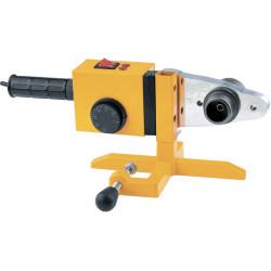 Аппарат для сварки пластиковых труб DWP-1500, 1500Вт, 260-300 градусов комплект насадок,20-63 мм DENZEL / 94205