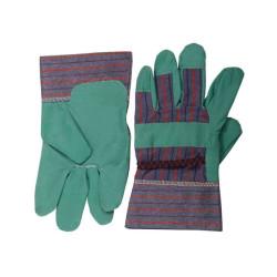 Перчатки рабочие STAYER из искусственной кожи комбинированные, MASTER, размер XL, зеленые / 1132-XL