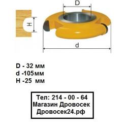 Фреза станочная галтельная Кратон (105*25 мм) / 1 09 07 020