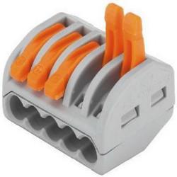 Клемма СВЕТОЗАР соединительная разъемная 5-проводная,  400 В, 32 А, 0.5-2.5/0.5-4 мм2, 2 шт. / 49190-5
