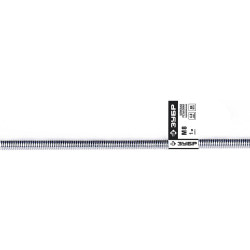 Шпилька ЗУБР резьбовая оцинкованная, DIN 975, класс прочности 4.8, М6x2000 мм, ТФ0, 1 шт. / 4-303350-06-2000