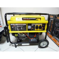Генератор бензиновый Denzel GE 4500E (4/4,5 кВт, колеса и аккумулятор - доп. опции) / 94683