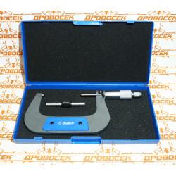 Микрометр ЗУБР, механический с термозащитой и трещеткой (75-100 мм) / 34480-100