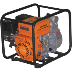 Мотопомпа Кратон GWP-50-02H (3,7 кВт + диаметр 50 мм + производительность 35 000 л/ч) / 5 05 01 013
