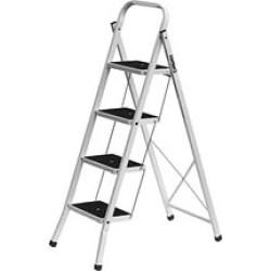 Лестница-стремянка стальная СИБИН, широкие ступени, 4 ступени, 92 см /  38807-04