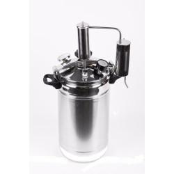 """Автоклав-стерилизатор «Домашний погребок» 2 в 1 (22л нержавеющя сталь, манометр, термометр, клапан сброса избыточного давления + надстройка  """"Классик"""" для самогоноварения)"""