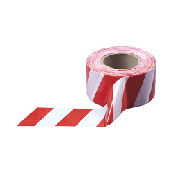 Лента сигнальная ЗУБР цвет красно-белый (ширина-75 мм, длина 200 м) / 12240-75-200