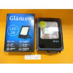 Светодиодный прожектор 20 Вт / GLANZEN FAD-0002-20