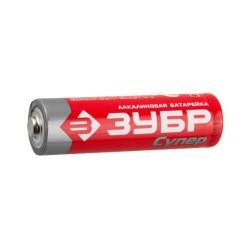 Батарейка ЗУБР TURBO щелочная (алкалиновая), тип AAA, 1.5 В, 4 шт. / 59211-4C