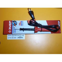 Электропаяльник ЗУБР, пластиковая рукоятка, долговечное жало, форма конус, 25 Вт / 55400-25_z01